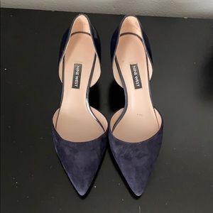 Nine West blue mini heels /Seize:7 /Color:blue